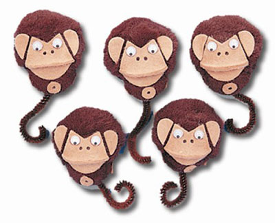 5-Character Monkey Mitt Set, 5 Little Monkeys