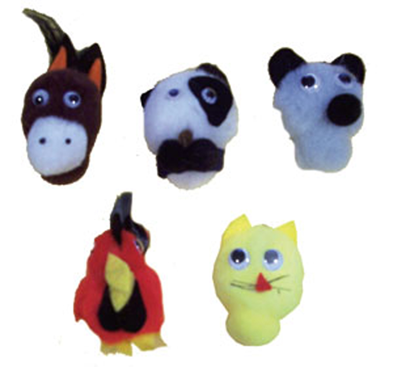 5-Character Monkey Mitt Set, Old MacDonald's Farm
