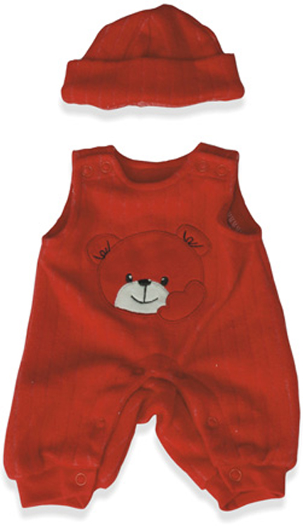 Baby Doll Clothes, Red Jumper with Hat