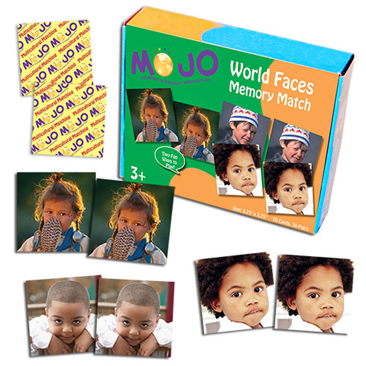 World Faces Memory Match Game