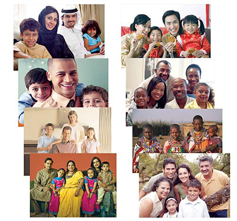 Families Around the World Posters, 8-1/2'' x 11'' - Set of 8