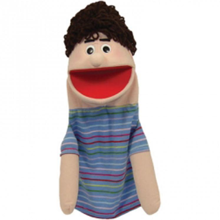 Joey, Half Body Caucasian Boy Character Puppet, 16-1/2''.