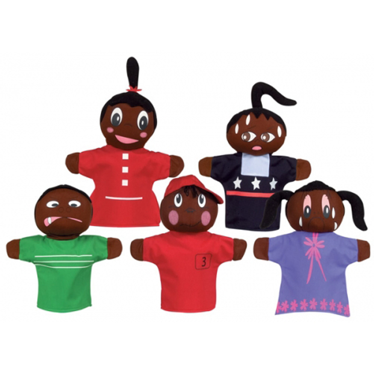 How Am I Feeling Hand Puppets, African-American