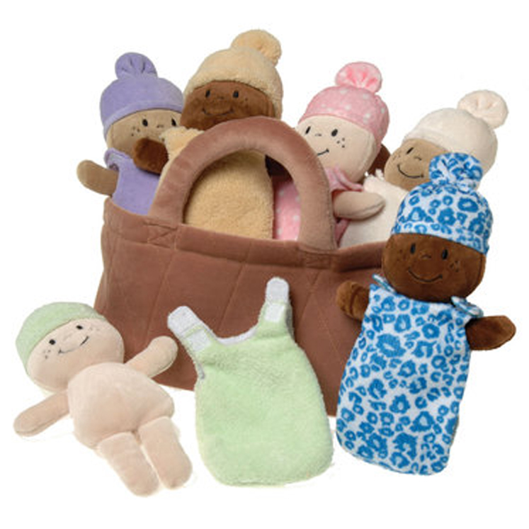 Basket of Babies, 10'' Dolls -  Set of 6