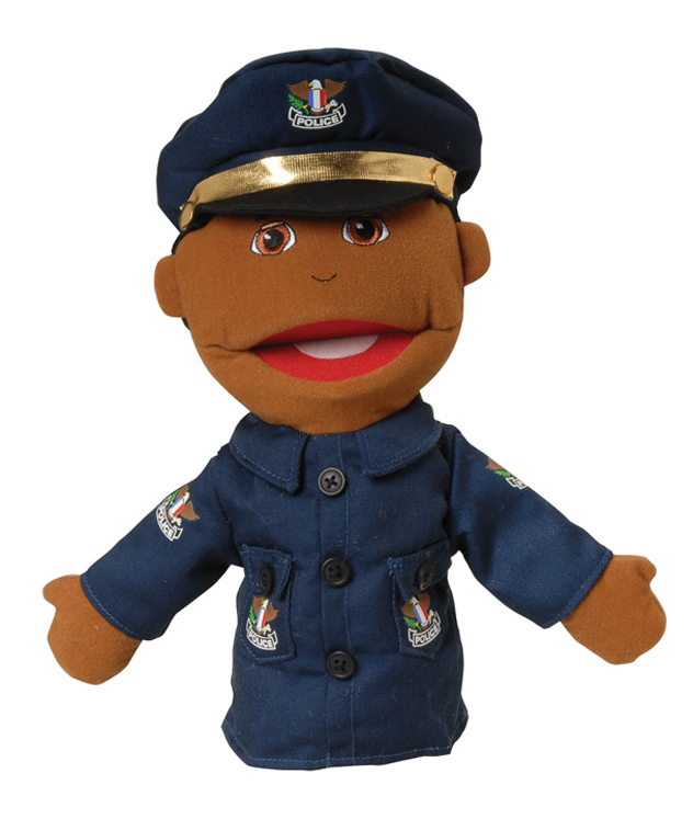 Multi-Ethnic Career Puppet, Police Officer