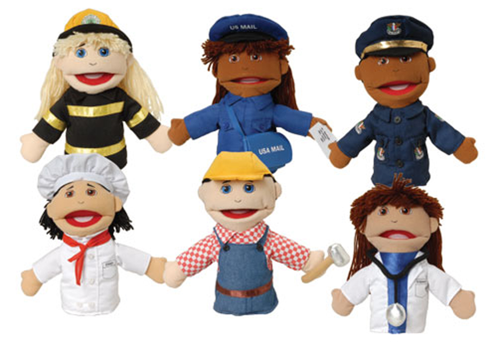 Multi-Ethnic Career Puppet - Set of All 6 Career Puppets