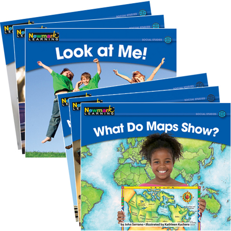 Rising Readers Leveled Books, Social Studies Set - 24 Titles