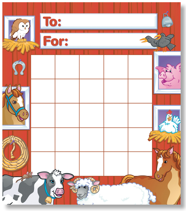 Farm Animals - Mini Incentive Chart