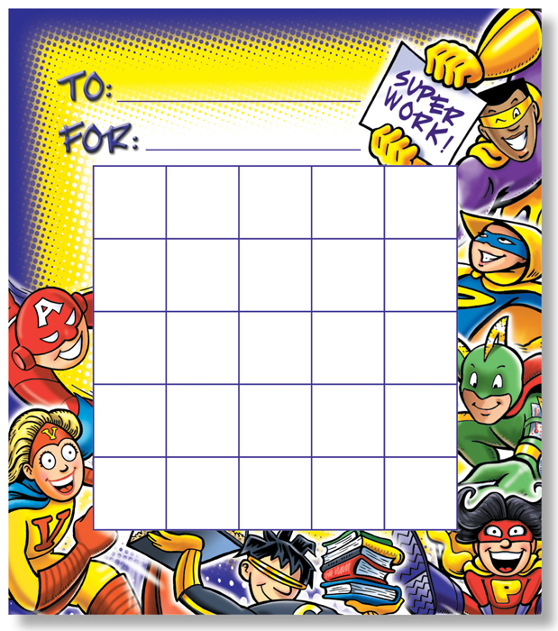 Superheroes - Mini Incentive Chart