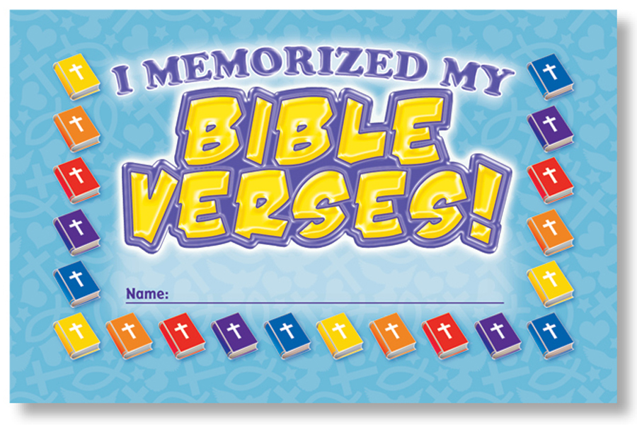 I Memorized My Bible Verses! - Incentive Punch Cards