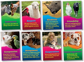 Kindness & Respect Posters - Set of 8