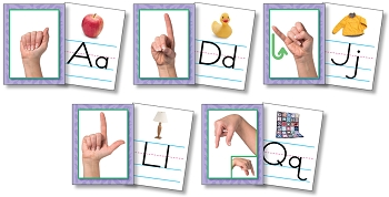 American Sign Language Alphabet Cards