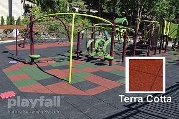 Playground Safety Surfacing Tiles, use outdoors or indoors - Select 4', 6', 8' or 10' Fall Height, 6 Color Choices