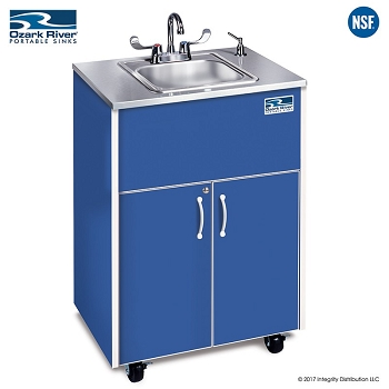 Silver Premier Adult Size Hot Water Portable Sink