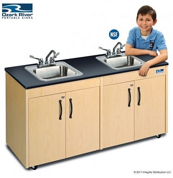 Lil' Deluxe 2-Station Child Size Portable Sink with Hot Water