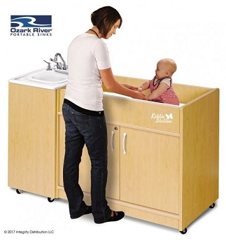 Kiddie Changing Station Hot Water Portable Sink (Plastic Basin)