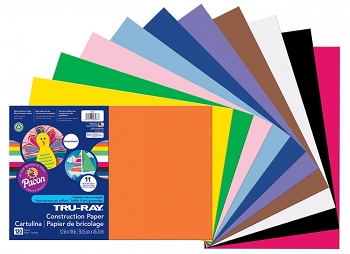 Tru-Ray, Smart Stack Construction Paper 12x18 Assorted Colors