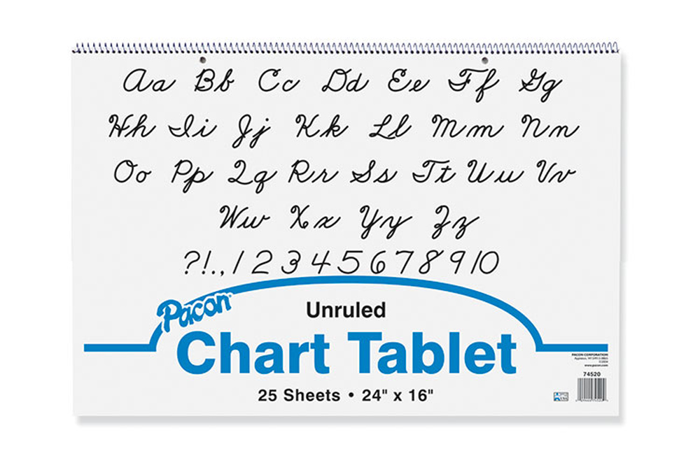 Chart Tablet, Unruled, 24