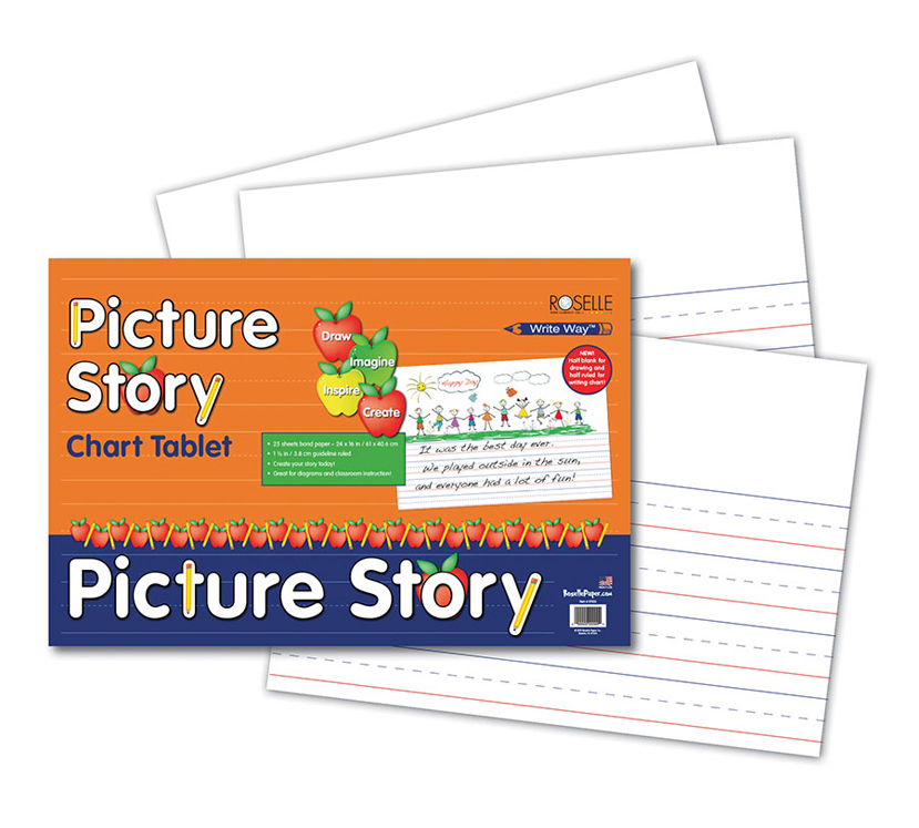 Pacon Picture Story Chart Tablet, Ruled, 24