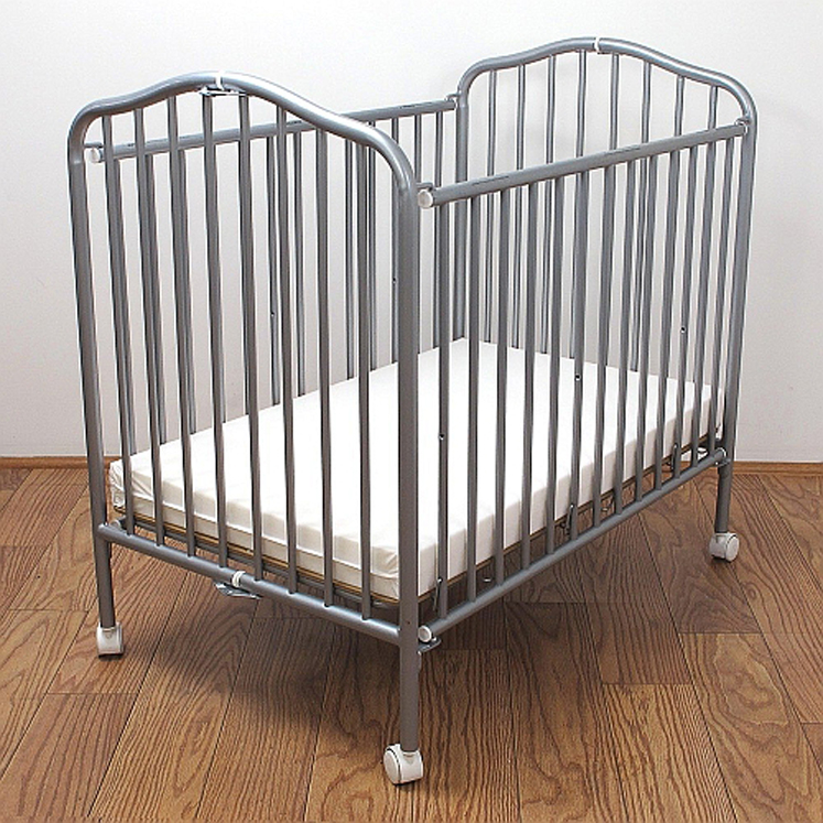Commercial Steel Adjustable Crib - Pewter, Black, Chocolate or Vanilla