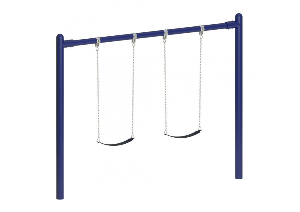 8 feet high Elite Single Post Swing, with Seats/Chain