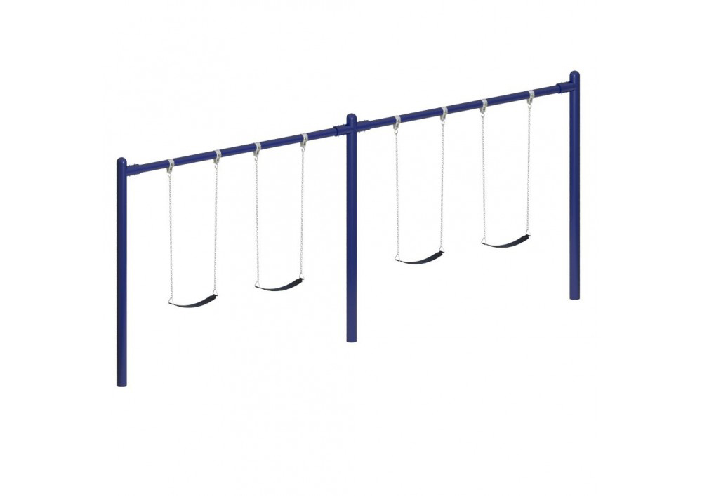 8' High Elite Single Post Swing - Two Bay with Option to Four Bay
