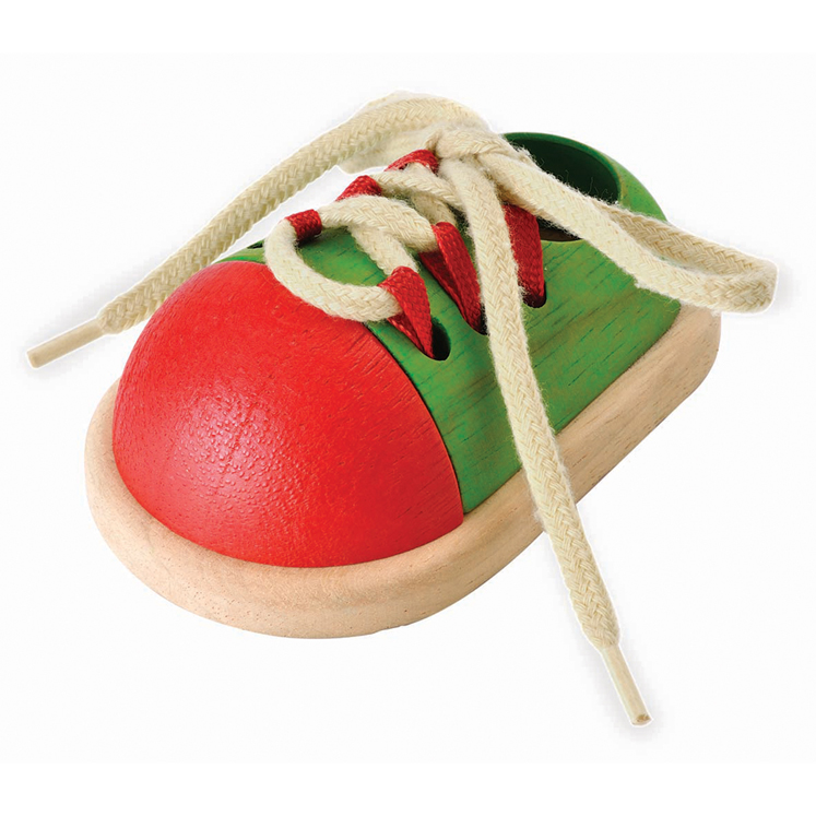 Tie-Up Wooden Shoe