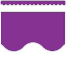 Purple Scalloped Border Trimmer
