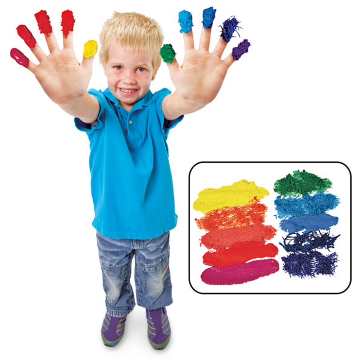 Roylco Non-Toxic Washable Finger Paint Sensations Kit, 30 oz