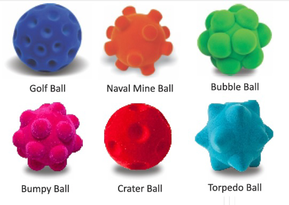 Standard Ball Assortment - Set of 6