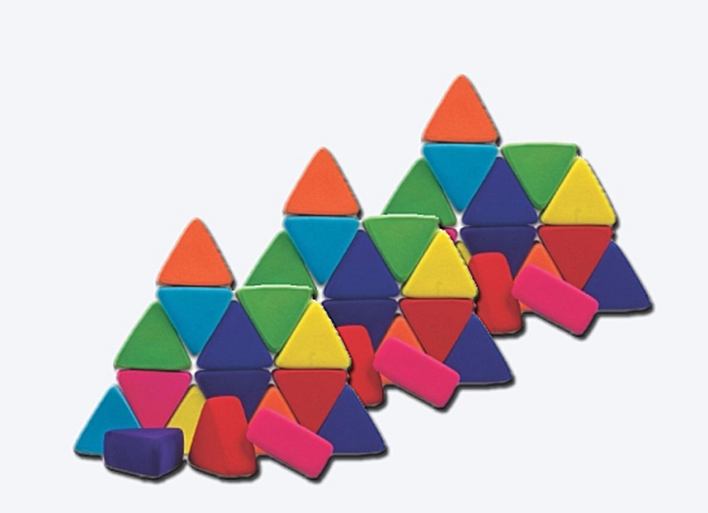 The Rubbablox Just Triangles - Tri-Pack