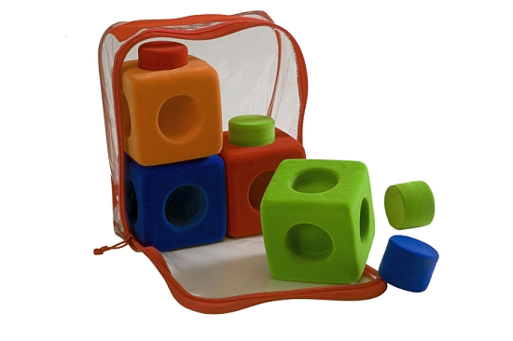 Rubbablox Building Blocks - Set of 4