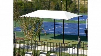 Rectangular Dual Column Umbrella with 8' Eave Height, In Ground, No Glide