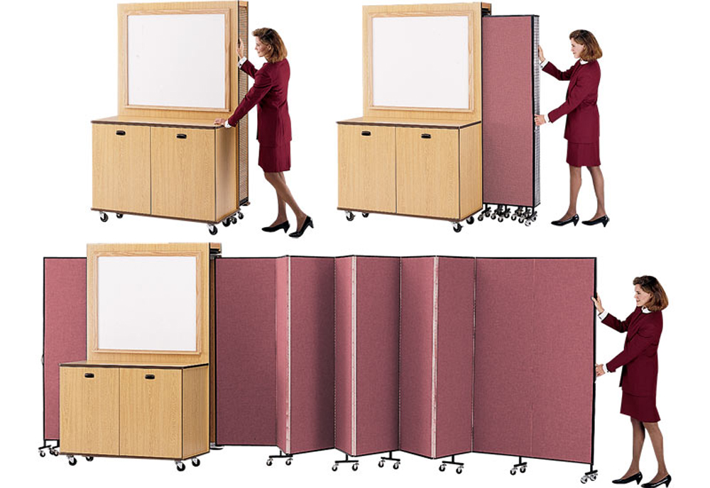 Cabinet / Marker Board / Dividers Combination
