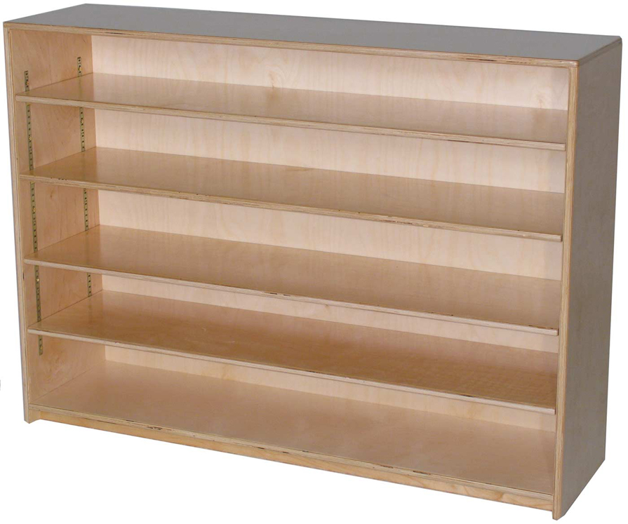 Mainstream Single Storage Unit with 4-Adjustable Shelves, 48