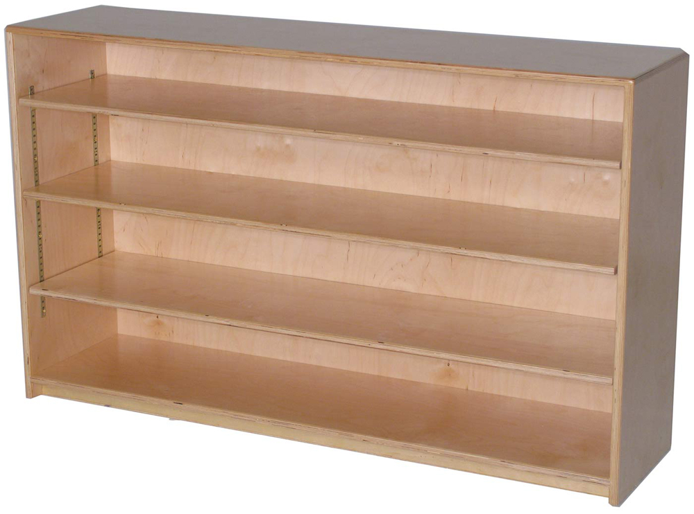 Mainstream Single Storage Unit with 3-Adjustable Shelves, 48''w x 15''d x 30''h, (12''d Version Pictured)