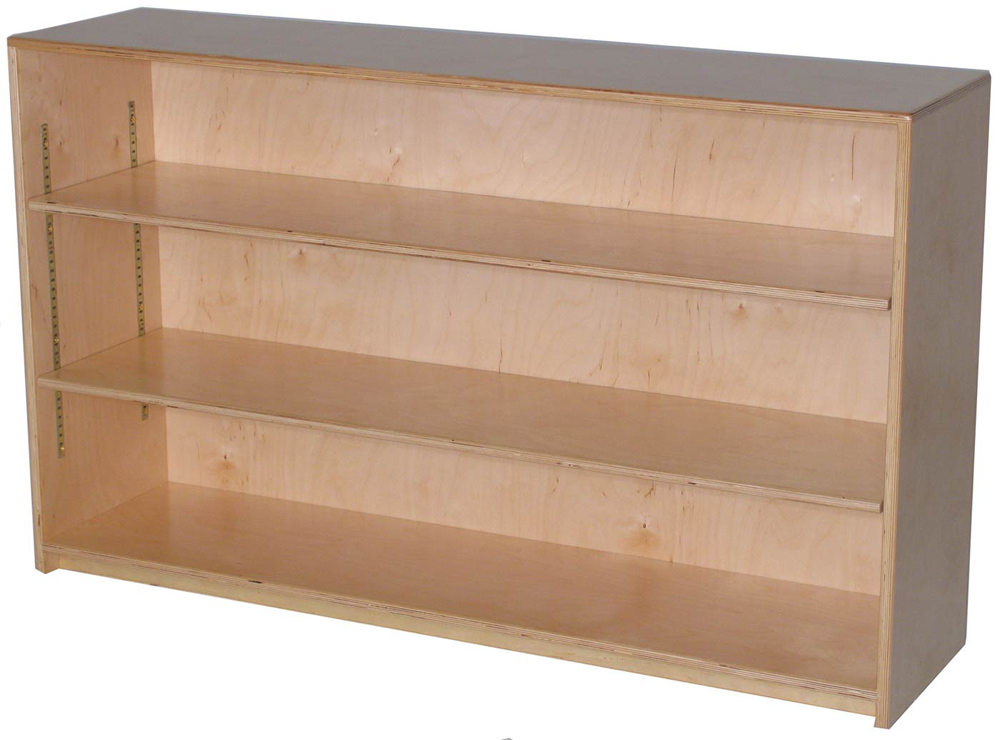 Mainstream Single Storage Unit with 2-Adjustable Shelves, 48''w x 15''d x 30''h, (12''d Version Pictured)