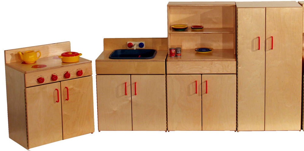 Mainstream Toddler Kitchen - Set of 4 Pieces (Preschool Shown)