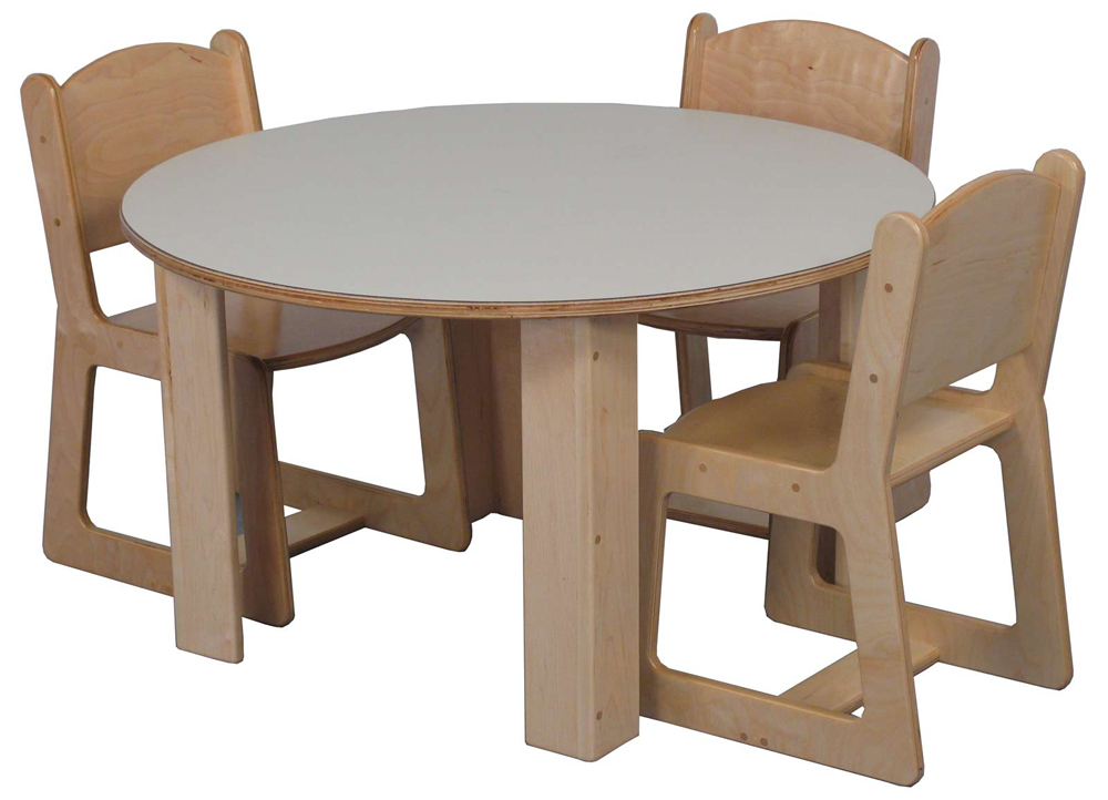 Mainstream Preschool 36'' Round Table (Chairs Not Included) - Multiple Heights Available