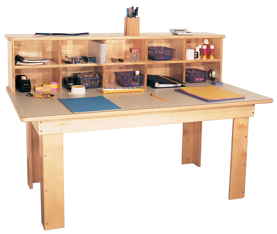 Mainstream Kindergarten Writing Center with Laminate Top, 48''w x 28''d x 35''h, 24''h Work Top