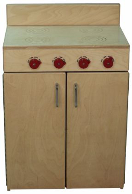 Mainstream Indestructible School Age Stove, 21-5/8''w x 15''d x 32''h, 28''h Stove Top (Preschool Shown)