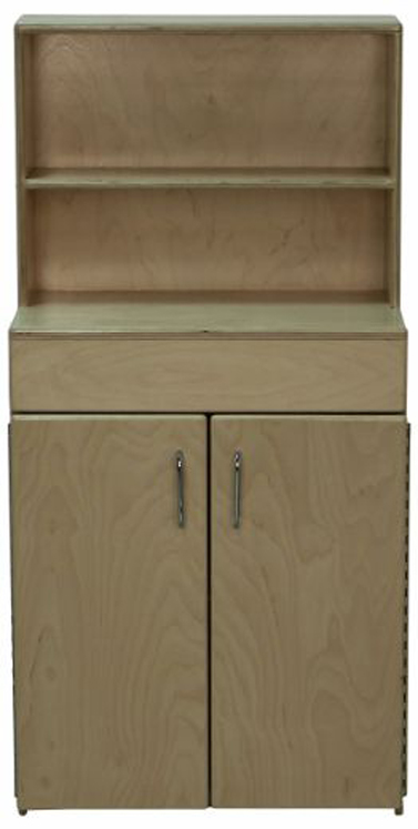 Mainstream Indestructible School Age Hutch, 21-5/8''w x 15''d x 44''h, 28''h to Stove Top