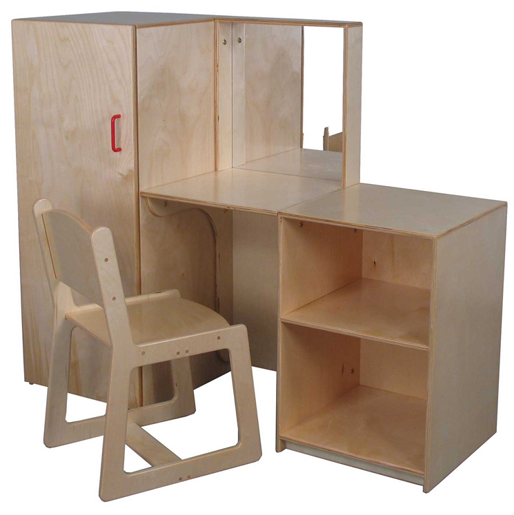 Mainstream Preschool Vanity and Chair Set (School Age Shown)