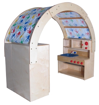 Mainstream Infant Toddler Kitchen Nook with Arched Awning