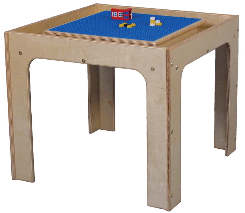 Mainstream Toddler Table Toy Play Center for 4, 30''w x 30''d x 19''h (School Age Shown)
