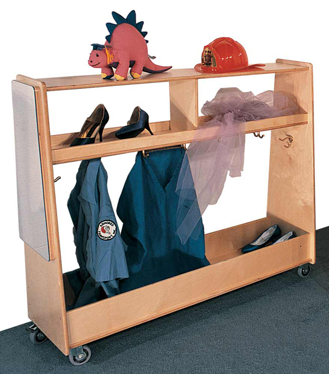 Mainstream SA Mobile Dress-up Cart with Mirror, 54''w x 18''d x 54''h (Preschool Shown)