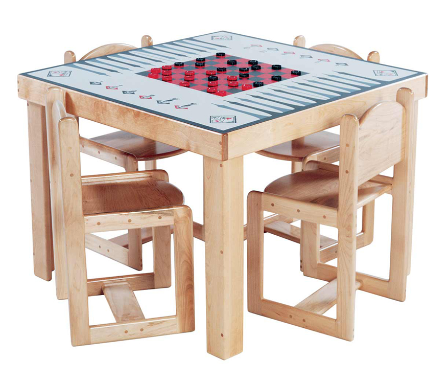 Mainstream School Age Game Table, 35''w x 35''d x 26''h (Deluxe Shown) (Chairs Not Included)
