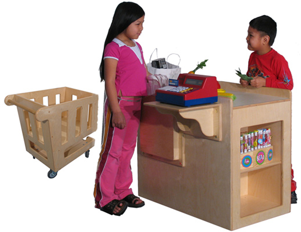 Preschool Check Out Stand and Shopping Cart