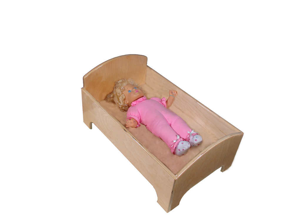 Mainstream Doll Bed, 24''w x 15''d x 12''h (Mattress Not Included)
