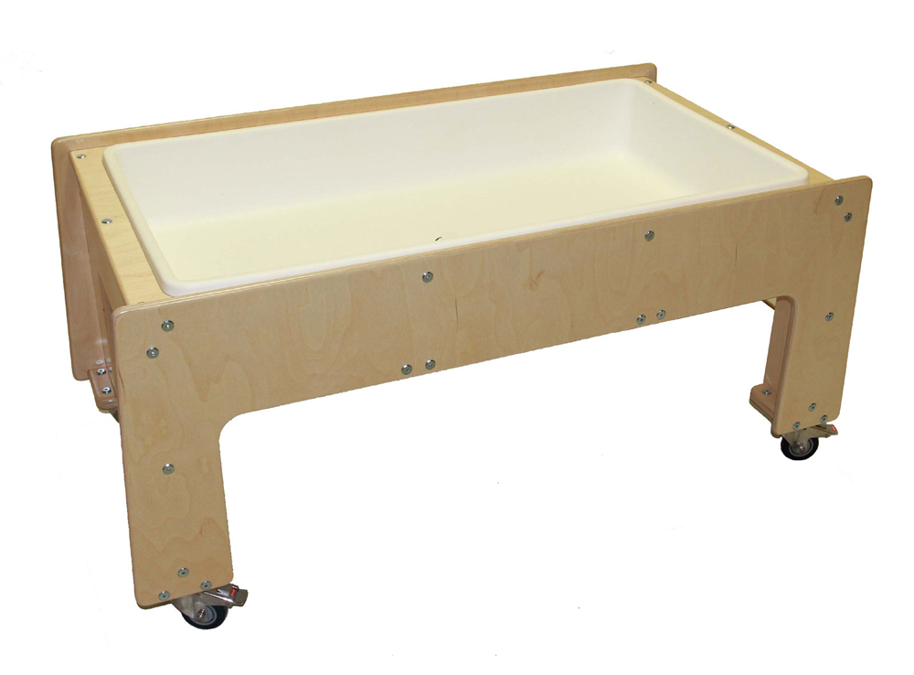 Mainstream Preschool Sensory Table with Drain, 51-1/2''w x 29''d x 24''h